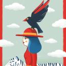 DANDO UN PASEO. Un proyecto de Ilustración, Dirección de arte, Diseño de personajes, Bellas Artes, Pintura, Creatividad, Dibujo e Ilustración digital de Irene Bofill García - 17.10.2018