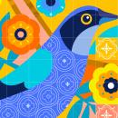 Diseño de Mosaico. Un proyecto de Ilustración, Br, ing e Identidad, Diseño de interiores, Arte urbano e Ilustración vectorial de Ely Ely Ilustra - 19.10.2018