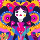 Ilustraciones rojas. Un proyecto de Ilustración e Ilustración vectorial de Ely Ely Ilustra - 19.10.2018