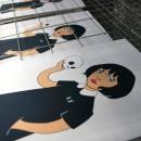 Estampación lámina para la ilustradora Gemma Quevedo. Um projeto de Estampagem de Print Workers Barcelona - 24.10.2018