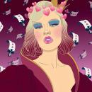 HEARTBREAKER KWEEN. Un proyecto de Ilustración, Dibujo, Ilustración digital y Dibujo de Retrato de Mia Bonbon - 29.10.2018