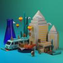 ALBUQUERQUE SERIAL CITY. Um projeto de 3D, Direção de arte, Design gráfico, Criatividade e Modelagem 3D de Alvaro Aspe Gonzalez - 06.11.2018
