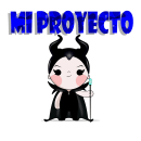 Mi Proyecto del curso: Dos personajes mi versión de Maléfica y Clarilu. Um projeto de Ilustração vetorial de Andrés Vizueta - 12.11.2018