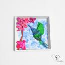Colibrí papel 3D. Un proyecto de Papercraft de Karin Potter - 13.11.2018