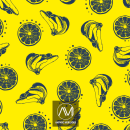 Yellow Fruits. A Graphic Design, Pattern Design, and Vector Illustration project by Amparo Mercader - 11.16.2018