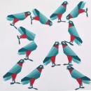 Diseño de aves en acrílico: Halcón peregrino y Periquito común.. Un proyecto de Diseño de Yaneth Plazas - 17.11.2018