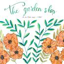 Presentación Garden Shop. Um projeto de Ilustração, Lettering e Pintura em aquarela de Matías Conde - 19.11.2018