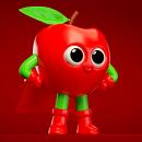 Super Fruities. Diseño de personajes para una marca de Jugo de frutas. A Illustration, 3D, Character Design, and 3D Character Design project by Daniel Dominguez - 11.26.2018