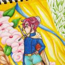 Chica guerrera. Um projeto de Ilustração, Artesanato, Artes plásticas, Pintura, Comic, Esboçado, Criatividade, Desenho a lápis, Desenho, Pintura em aquarela e Desenho artístico de Cristina Aguilera - 29.11.2018