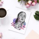 Lyla. Un proyecto de Diseño, Ilustración, Diseño gráfico, Dibujo a lápiz, Pintura a la acuarela e Ilustración de retrato de Sandra Casado Díaz - 03.12.2018