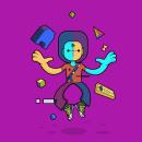 Gamer Char. Un progetto di Illustrazione vettoriale di Geovanii Kuznetsov - 17.12.2018