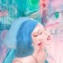 Ilustracion smoke girl. Um projeto de Ilustração, Design editorial, Desenho e Ilustração de retrato de Maria Sanagustin - 25.12.2018