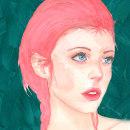 Elfo girl. Um projeto de Ilustração, Comic, Desenho, Ilustração digital e Ilustração de retrato de Maria Sanagustin - 28.12.2018