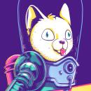 Cats Attacks. Un progetto di Character Design, Illustrazione , e Serigrafia di Eneri Mateos - 14.01.2019