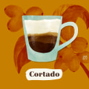Café. A Design, Illustration, Advertising, Fine Art, Cooking, Graphic Design, Infographics, Creativit, Digital illustration, and Watercolor Painting project by Ana Rey - 01.23.2019