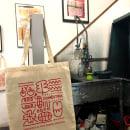 PRIMERA IMPRESIÓN. Primer evento offline de Domestika. Um projeto de Serigrafia de Print Workers Barcelona - 28.01.2019