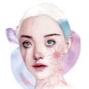 Mi Proyecto del curso: Retrato ilustrado en acuarela. A Watercolor Painting, and Portrait illustration project by Valeria Montes - 01.31.2019