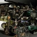 Mitsubishi Tecnologia Animal. Un proyecto de 3D, Retoque fotográfico e Ilustración digital de Ricardo Salamanca - 03.02.2019