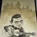 """Johnny Cash """"Ghost Riders in the Sky"""" 2018 ✏. Um projeto de Desenho e Desenho a lápis de Daniel Pérez - 24.11.2018"""