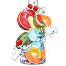 Absolut Vodka - Macedonia de frutas. A Design, Illustration und Digitale Illustration project by RJV Ilustración - 17.02.2019