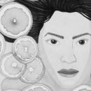 Refrescante - Ilustración con tinta china. Un proyecto de Ilustración e Ilustración de retrato de Sara Azurdia - 19.02.2019