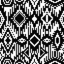 EMILIA Jacquard en dos partes: dos colores y tres colores con cambio por un cuarto.. Um projeto de Pattern Design, Design de moda e Ilustração têxtil de Leticia Texeira Nuñez - 21.02.2019
