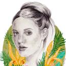 Mi Proyecto del curso: Retrato con lápiz, técnicas de color y Photoshop. Un proyecto de Ilustración de Olga Negro - 28.09.2018
