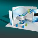 Diseño de Stand para EMASESA, empresa pública del agua de Sevilla. Un proyecto de Arquitectura interior y Diseño gráfico de Antonio Gaga - 22.02.2019