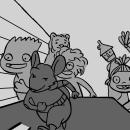 Storyboard film La gran aventura de los Lunnis y el libro mágico . Un proyecto de Cine, Dibujo, Stor y board de Olga Carmona Peral - 10.03.2018