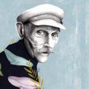 I could have been a sailor. Um projeto de Ilustração, Ilustração vetorial, Desenho a lápis, Desenho, Ilustração digital, Ilustração de retrato, Desenho de Retrato e Desenho realista de Ana Sánchez Tejedor - 25.02.2019
