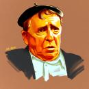 Retrato Paco Martínez Soria . Um projeto de Ilustração e Ilustração de retrato de Julio Loborda - 26.02.2019