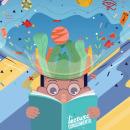 Propuesta de afiche para la feria del libro. Um projeto de Ilustração, Animação, Ilustração vetorial, Animação 2D e Ilustração digital de Fabiola Thalia Contreras Rosso - 08.01.2019