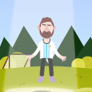 La verdad de Messi. A Character Design, Character animation, and 2D Animation project by Nico Canteros - 03.08.2019