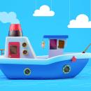 Mi primer barco 3D. Um projeto de 3D, Criatividade e Ilustração digital de Mario Andres Muñoz Garcia - 15.03.2019