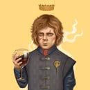 Tyrion Lannister . Um projeto de Ilustração de retrato e Ilustração digital de Juan Ruiz - 16.03.2019