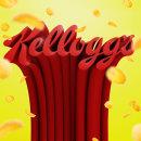 Kellogs refining logo. Un proyecto de Diseño, 3D, Br, ing e Identidad, Lettering, Diseño de logotipos y Modelado 3D de Never Sleep - 20.03.2019