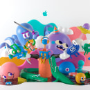 APP STORE. A Illustration, 3D, Art Direction, Character Design, and 3D Character Design project by Aarón Martínez - 04.04.2019