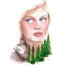 No planet B. Um projeto de Design, Ilustração, Ilustração digital, Pintura em aquarela, Ilustração de retrato e Desenho de Retrato de Ana Sánchez Tejedor - 25.04.2019