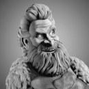 """Tormund Giantsbane """"Giants milk"""" Fan art. Un proyecto de Escultura, Animación 3D y Diseño de personajes 3D de Darlon Ximenes Dos Santos - 28.04.2019"""