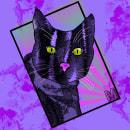 GATO M. Um projeto de Ilustração, Design gráfico, Comic, Criatividade, Desenho, Concept Art, Desenho de Retrato e Desenho artístico de Adrián Lopez Maya - 05.05.2019