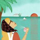 Chanel in the mediterranean sea . Un proyecto de Publicidad, Diseño editorial, Diseño de moda e Ilustración digital de Araceli Moya - 13.05.2019