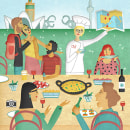 Illustration for Fleet People Magazine. Un proyecto de Ilustración, Diseño editorial, Cocina, Diseño de carteles e Ilustración digital de Araceli Moya - 12.05.2019