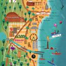 Illustrated map - Cullera. Un proyecto de Ilustración, Publicidad, Educación, Eventos, Diseño de la información, Creatividad, Ilustración digital y Dibujo artístico de Araceli Moya - 10.05.2019