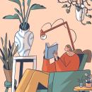 Surrounded by plants. Un proyecto de Ilustración de Luna Pan - 14.05.2019