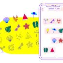 Summer icons __ Pack de stickers para WhatsApp. Um projeto de Design, Direção de arte, Design gráfico, Diseño de iconos e Ilustração digital de María Marqueses - 17.05.2019