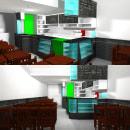 3D Tienda comercial de Café. Un proyecto de 3D, Arquitectura interior y Arquitectura digital de José Zappata - 21.05.2019