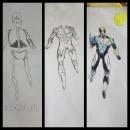 Mi Propio Personaje: Capitán Celestial en su fase perfecta. Un proyecto de Dibujo de Mathew Moreira Correa - 24.05.2019