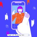Fear of Missing Out — Microanimations. Um projeto de Design, Ilustração, Motion Graphics, Animação, Direção de arte, Design de personagens, Design gráfico, Social Media, Animação de personagens e Animação 2D de María Marqueses - 07.06.2019