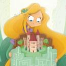 El Laberinto de las letras. Ilustración digital para cuentos infantiles.. Un proyecto de Ilustración infantil de Laura García Mañas - 07.06.2019