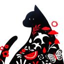 Gato. Un proyecto de Ilustración, Ilustración infantil y Serigrafía de Paula Zamudio - 10.06.2019